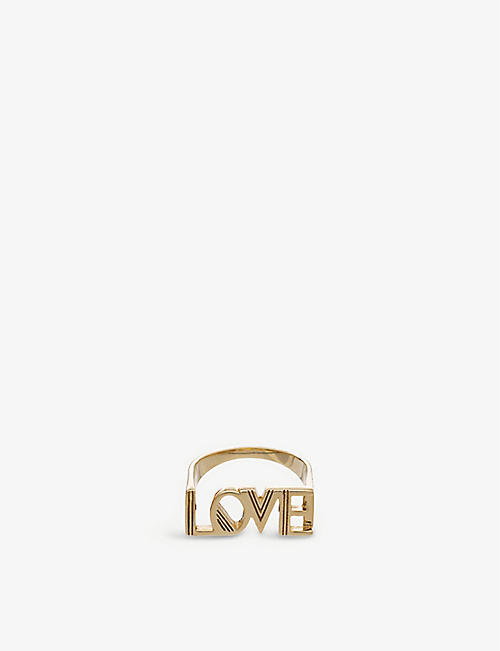 RACHEL JACKSON: Love 22ct gold-plated sterling silver ring