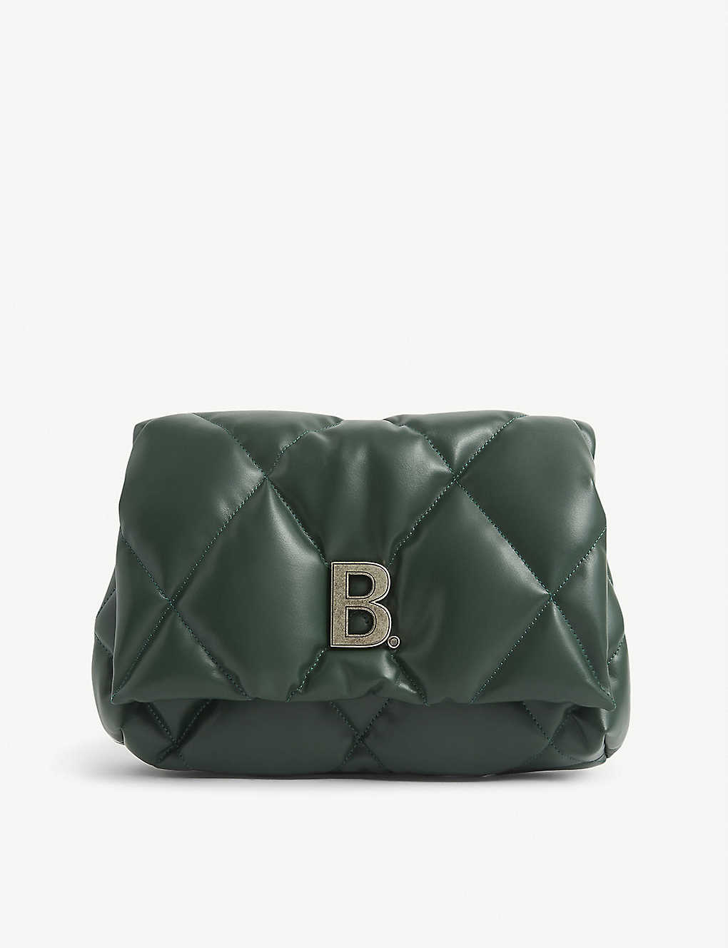 BALENCIAGA: Touch B. padded leather clutch