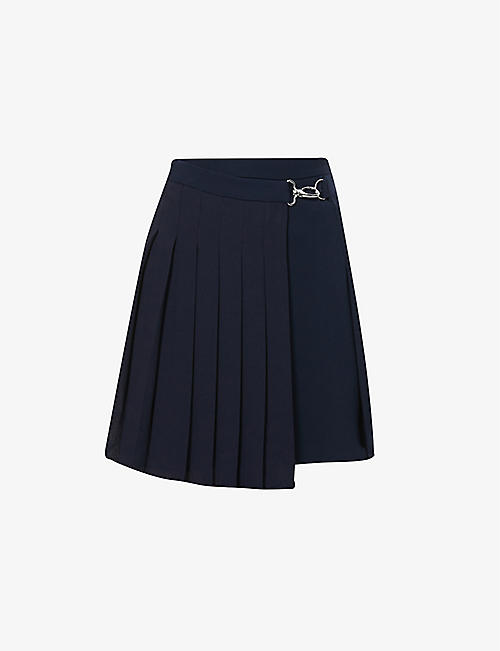 CLAUDIE PIERLOT: Sicile pleated crepe mini skirt