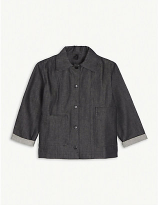 PIPPINS DENIM: Organic denim chore jacket 1-10 years