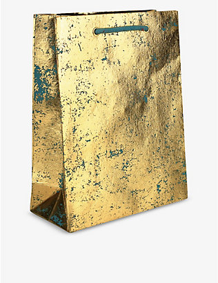 VIVID WRAP: Gold Crush recycled gift bag