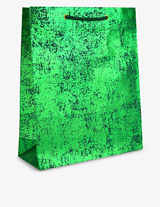 VIVID WRAP: Green Crush recycled medium gift bag