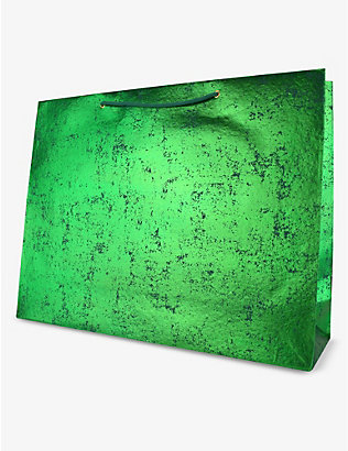 VIVID WRAP: Green Crush recycled large gift bag