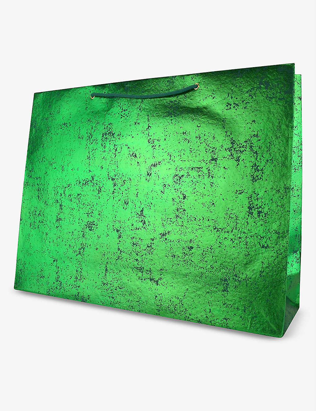 VIVID WRAP: Green Crush extra-large recycled-cotton paper gift bag