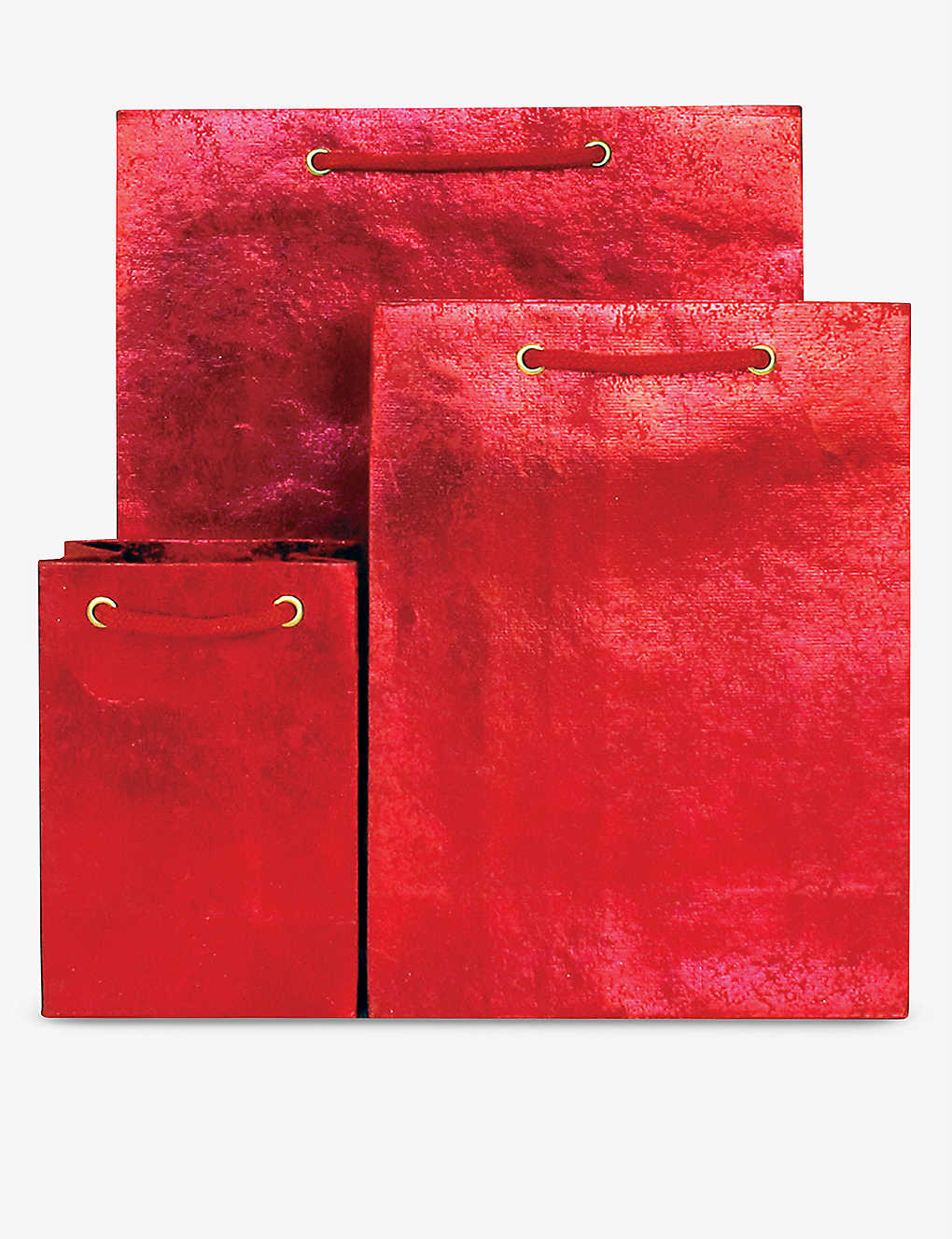 VIVID WRAP: Red Crush recycled medium gift bag