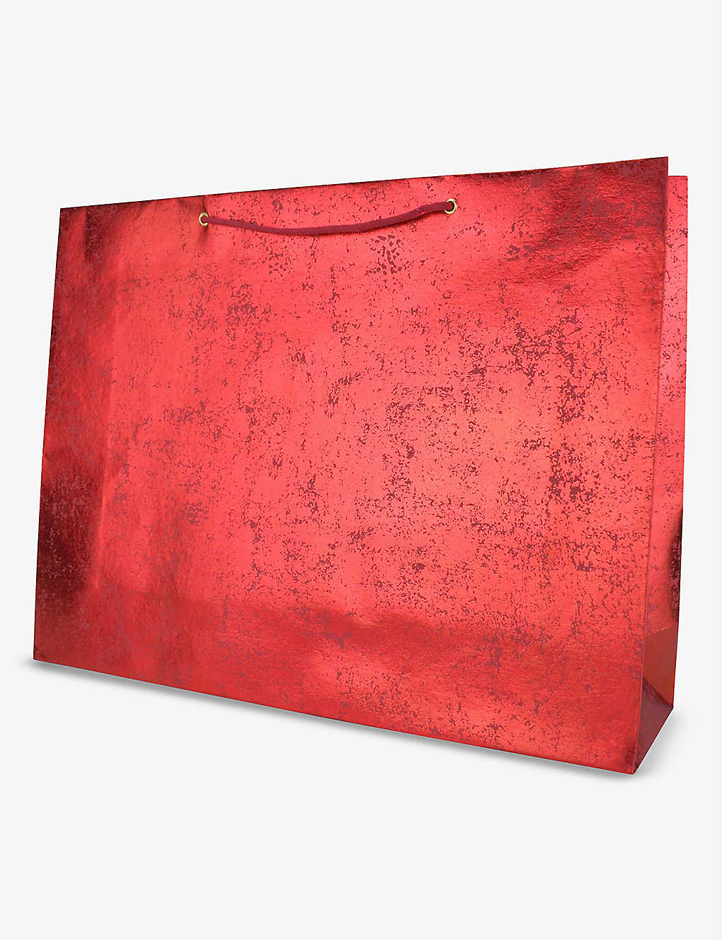 VIVID WRAP: Red Crush extra-large recycled-cotton paper gift bag