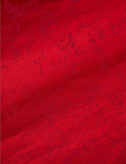 VIVID WRAP: Red Crush metallic recycled-cotton paper rolled wrapping paper 2m