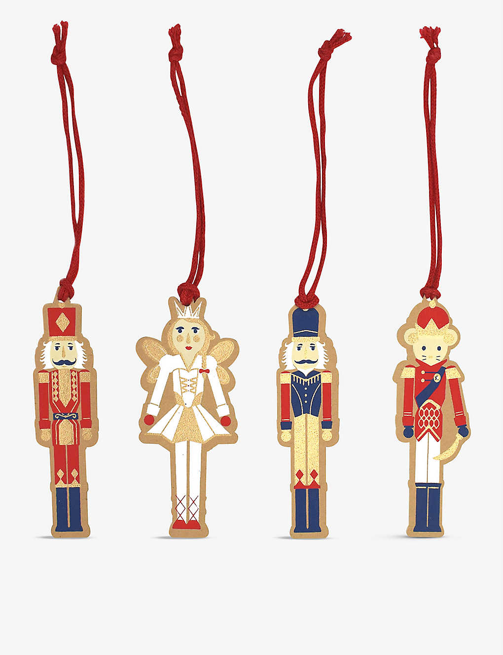 VIVID WRAP: Nutcracker set of four gift tags
