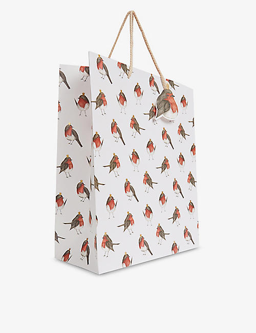 THE ART FILE: Christmas Robins gift bag