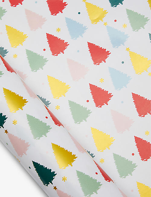 THE ART FILE: Christmas tree-print wrapping paper 3m