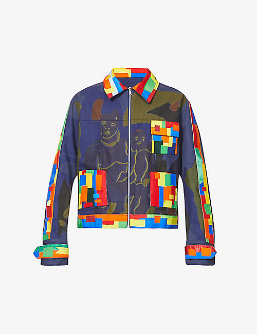 BETHANY WILLIAMS: Waste abstract-print organic cotton jacket