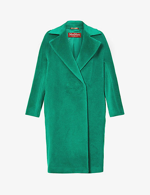 MAX MARA STUDIO: Sidney alpaca and wool-blend coat