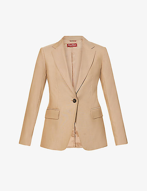 MAX MARA STUDIO: Jacapo single-breasted wool-blend jacket
