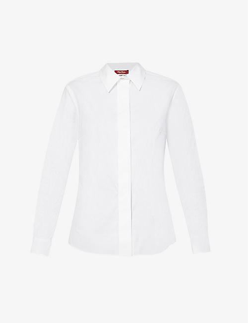 MAX MARA STUDIO: Linda cotton-blend shirt