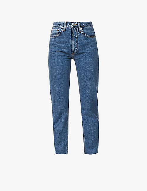 RE/DONE: Stove Pipe straight-leg high-rise jeans