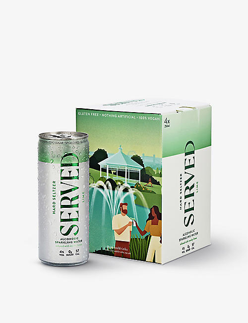 SERVED: Served lime-infused hard seltzer pack of four x 250ml