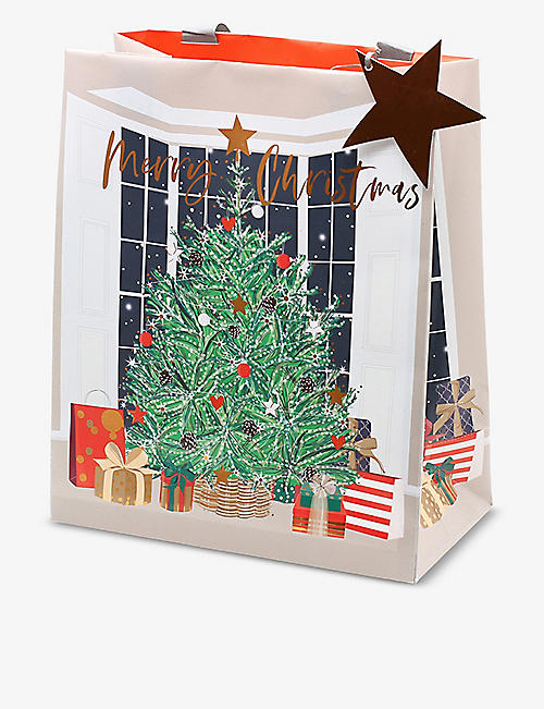 BELLY BUTTON DESIGNS: Christmas Tree Window portrait gift bag
