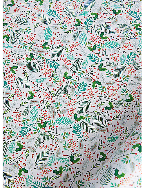 BELLY BUTTON DESIGNS: Christmas Tree Window wrapping paper 3m