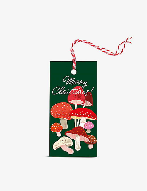 NOI PUBLISHING: Merry Christmas mushroom gift wrapping tags pack of ten