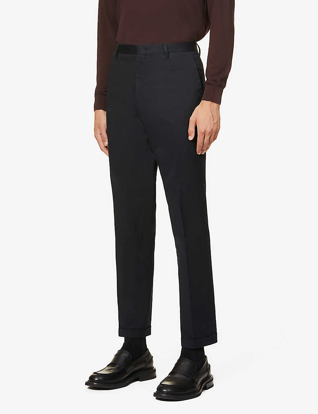 PAUL SMITH: Slim-fit stretch-cotton twill trousers chino trousers