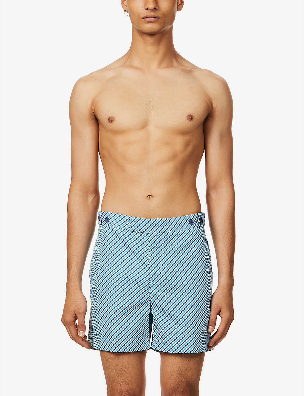 FRESCOBOL CARIOCA: Pepe abstract-print tailored swim shorts