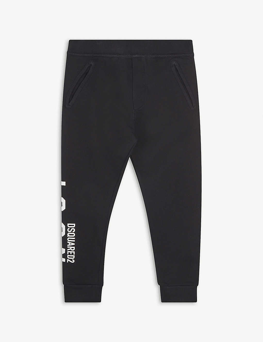 DSQUARED2: Logo-print cotton jogging bottoms 4-16 years
