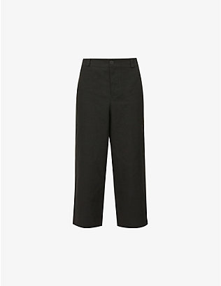 TOOGOOD: Belted patch-pocket wide cotton trousers