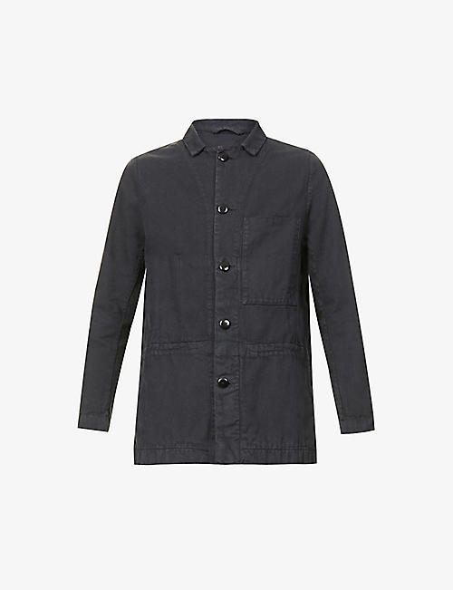 TOOGOOD: Carpenter collared patch-pocket cotton jacket