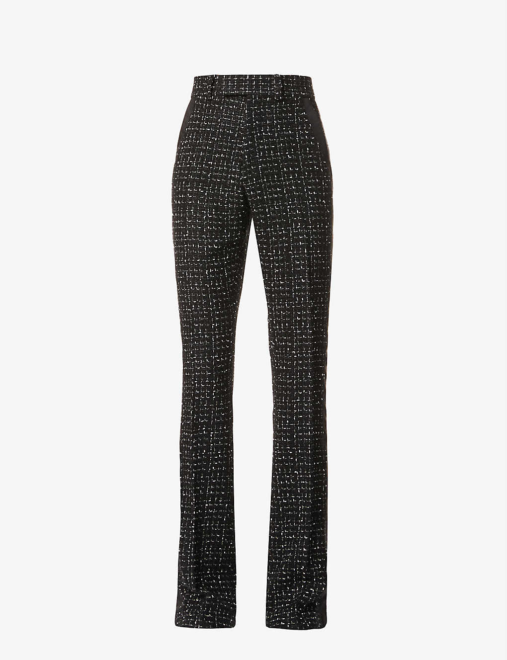 AMIRI: Flared regular-fit tweed trousers