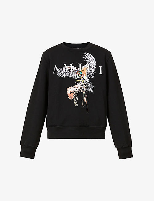 AMIRI: Falcon-print cotton-jersey sweatshirt