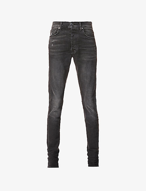 AMIRI: Stacked mid-rise stretch-denim jeans