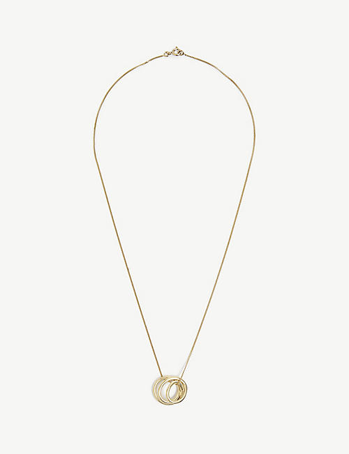 COMPLETEDWORKS: Flow 14ct yellow-gold vermeil pendant necklace