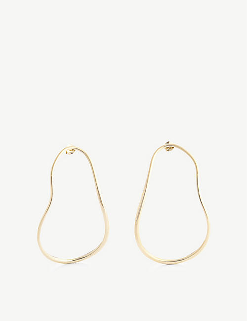 COMPLETEDWORKS: Subcommittee 14ct yellow gold-plated sterling silver earrings
