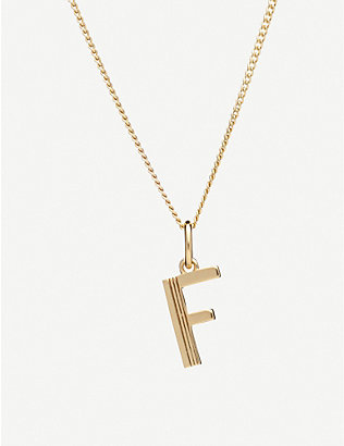 RACHEL JACKSON: Art Deco initial gold-plated sterling silver necklace