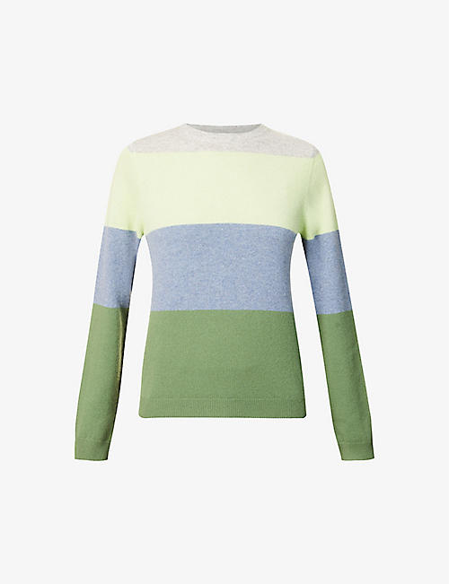 PEOPLE'S REPUBLIC OF CASHMERE: Striped round-neck cashmere jumper