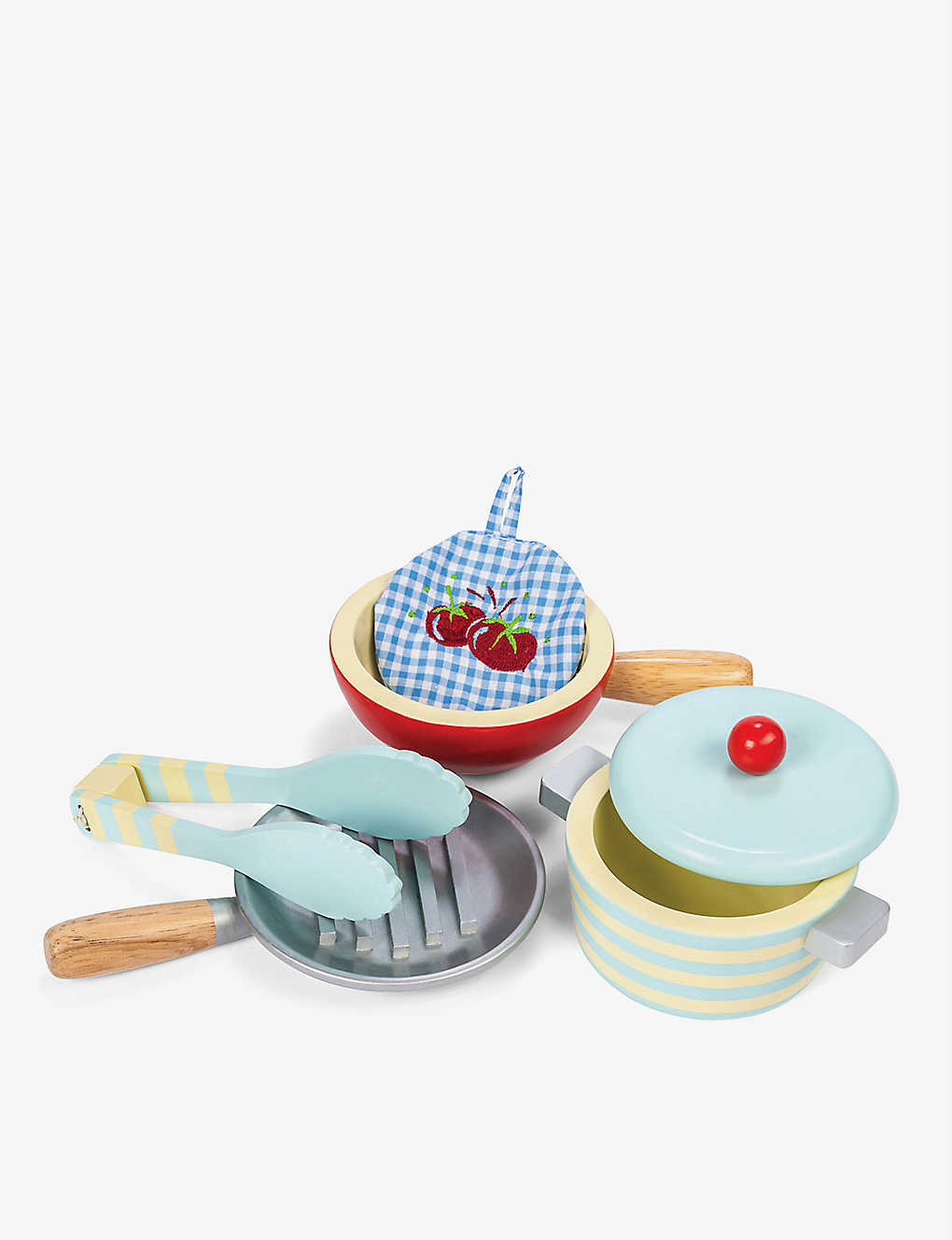 LE TOY VAN: Pots and pans wooden set