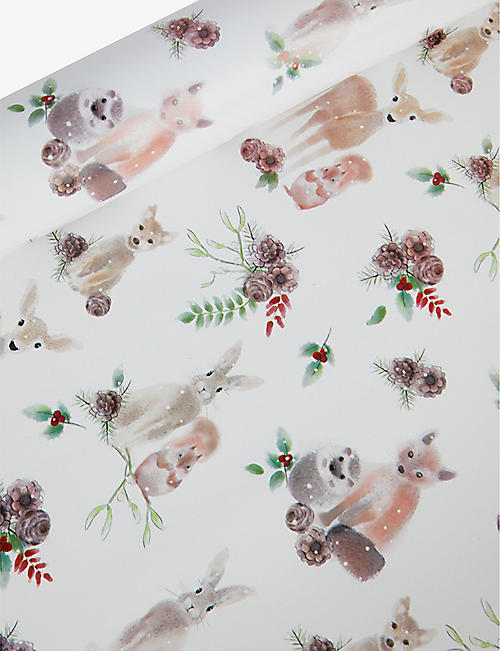 DEVA DESIGNS: Forest Animals wrapping paper 3m