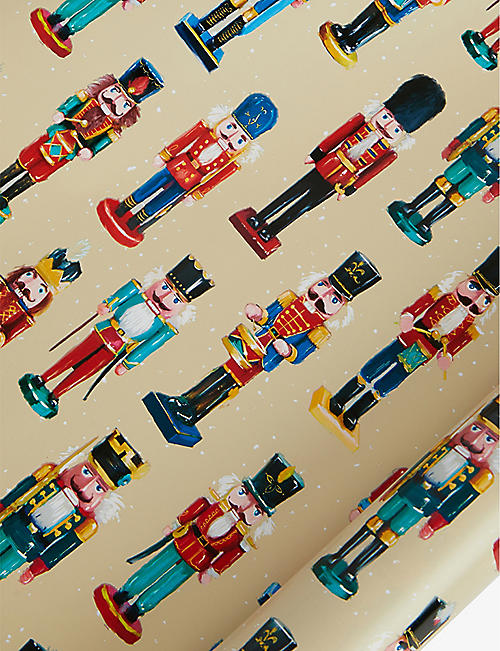 DEVA DESIGNS: Nut Crackers wrapping paper 3m