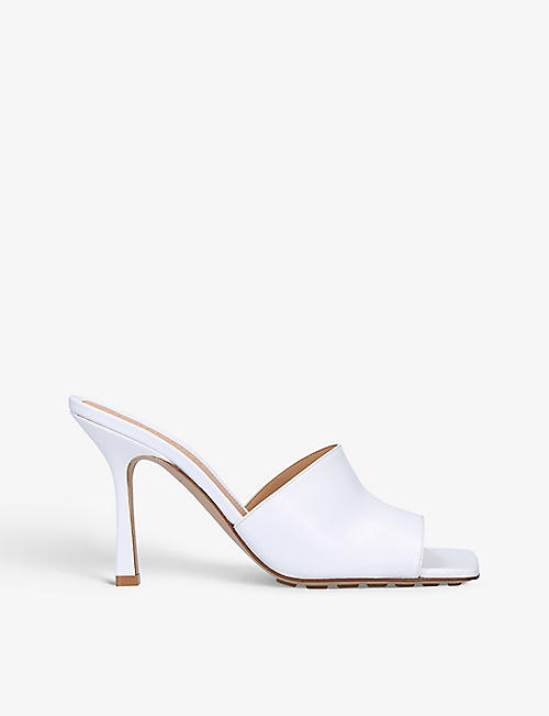 BOTTEGA VENETA: Square toe leather mules