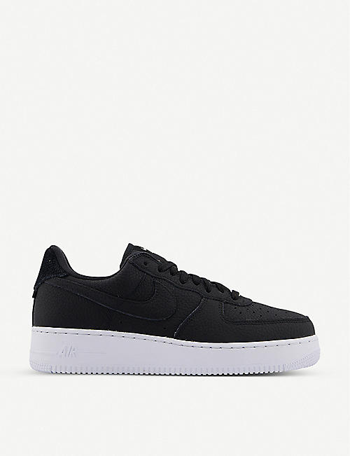 NIKE: Air Force 1 '07 logo-patch leather low-top trainers