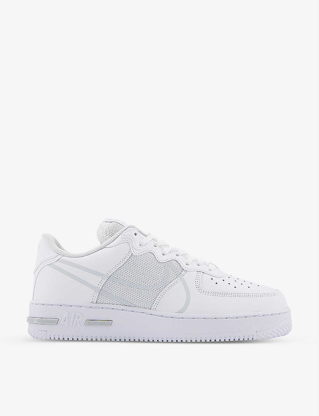 Nike AIR FORCE 1 REACT LEATHER AND MESH TRAINERS