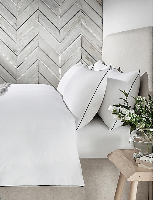 THE WHITE COMPANY: Abingdon cotton-percale super king size duvet cover