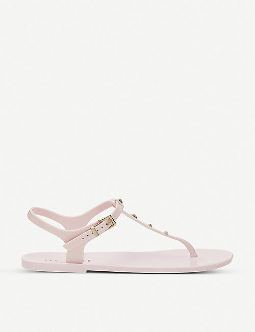 TED BAKER: Keiya stud-embellished jelly sandals