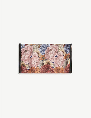 EMILY CARTER: Antique floral-print silk face covering