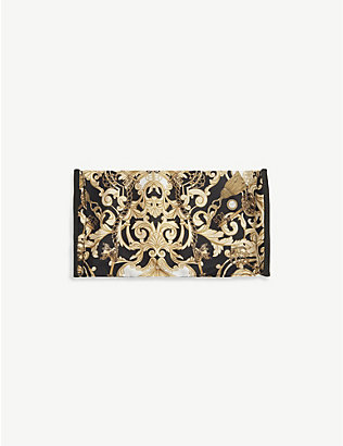 EMILY CARTER: Baroque-print silk face covering