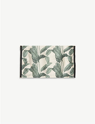 EMILY CARTER: Palm leaf-print silk face covering