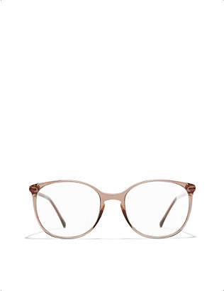 CHANEL: CH3282 acetate round-frame optical glasses