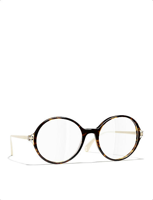 CHANEL CH3398 round-frame optical glasses