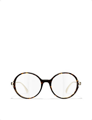 CHANEL: CH3398 round-frame optical glasses
