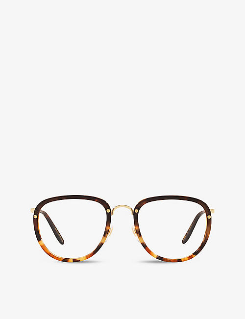 GUCCI: GG0675O rectangle-frame acetate eyeglasses